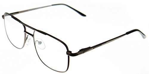 Aloha Eyewear Tek Spex 8004 Unisex Progressive No-Line Aviator Bifocal Reader Glasses