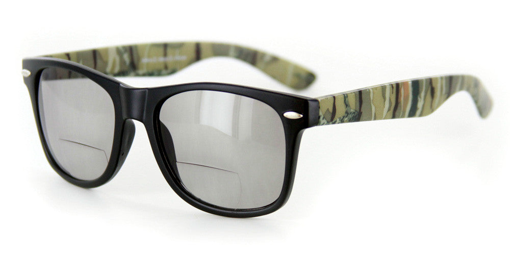 """Camo Wayfarer"" Fashion Bifocal Sunglasses for Stylish Men and Women - Aloha Eyes - 5"