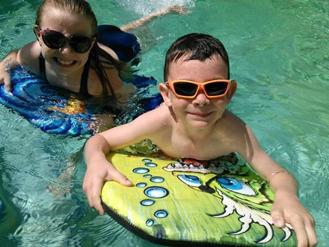 """Splash"" Polarized, 100% UV, Wrap Around Sunglasses for Boys and Girls from our Alha Kids Collection - Aloha Eyes - 5"