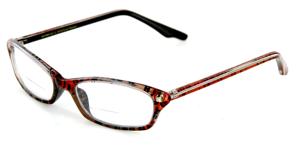 """Exotica"" Animal Print Bifocal Readers with Slim Design and an Optical Frame - 51mm x 17mm x 140mm - Aloha Eyes - 2"