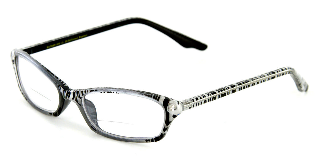 """Exotica"" Animal Print Bifocal Readers with Slim Design and an Optical Frame - 51mm x 17mm x 140mm - Aloha Eyes - 3"