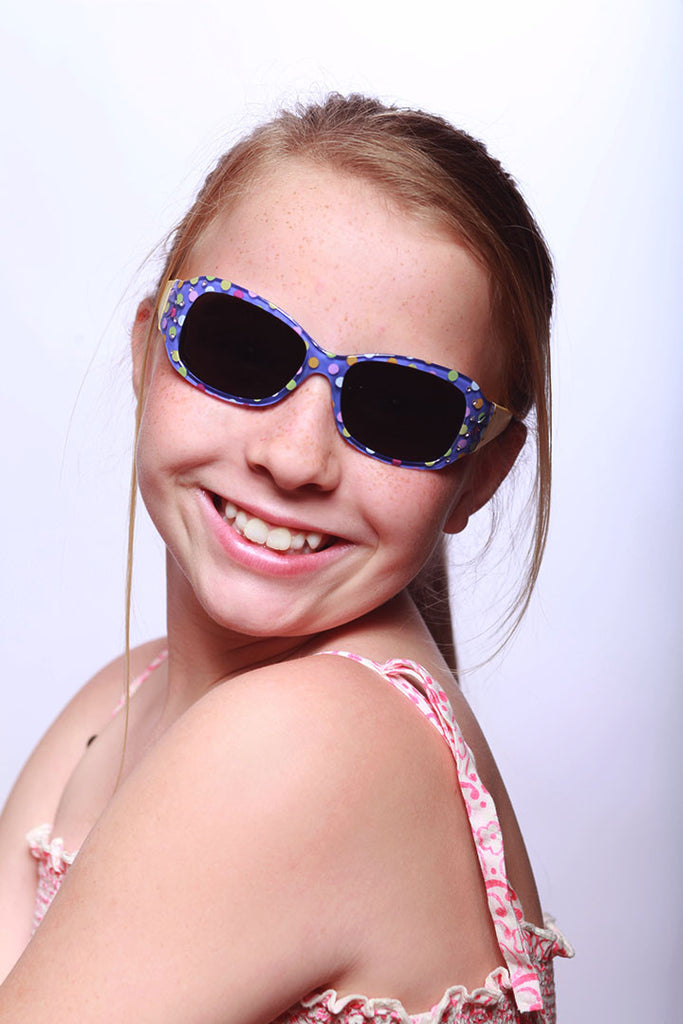 """Sugar n' Spice"" Kids Polarized Sunglasses in Three Fun Colors - 100% UV - Aloha Eyes - 4"