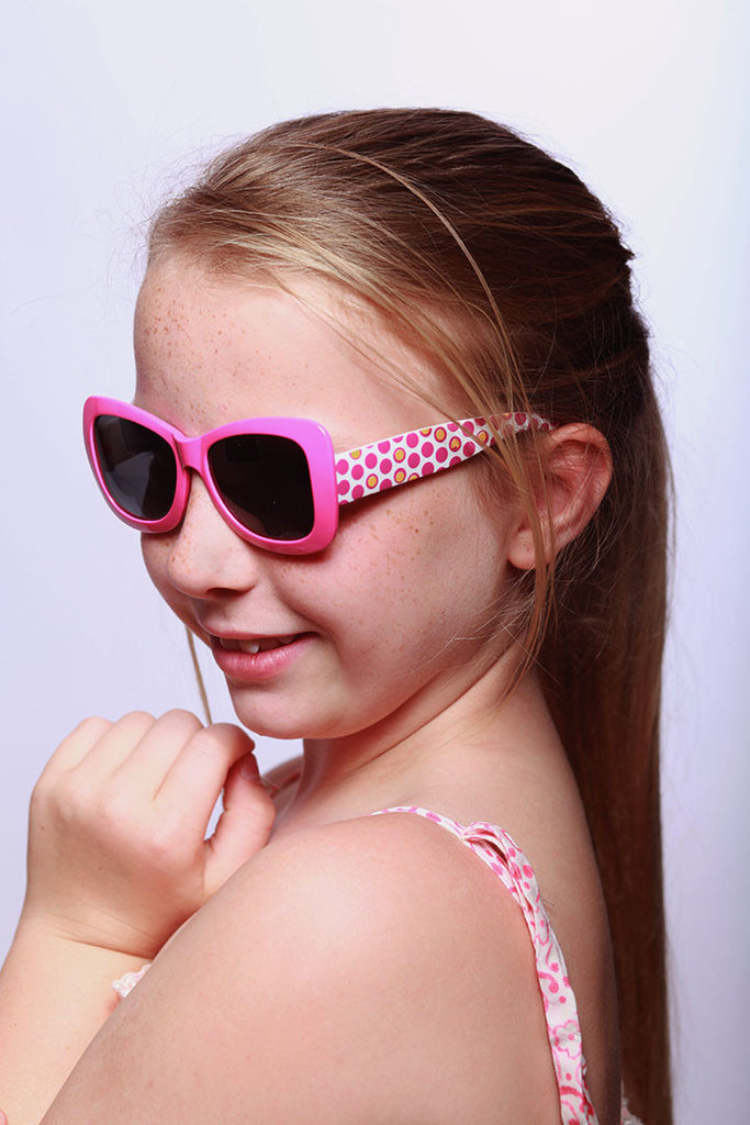 """Hippie Chic"" Polarized (Anti-Glare) Kids Wayfarer Sunglasses Protect Eyes 100%UV - Aloha Eyes - 5"