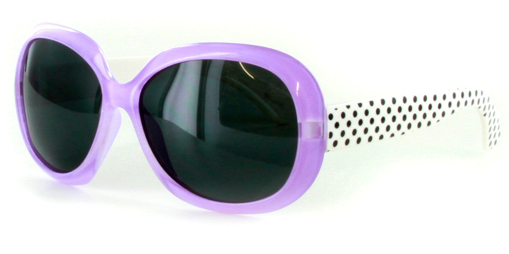 """Polka Dots"" Polarized Kids Sunglasses in Five Gorgeous Colors - 100% UV - Aloha Eyes - 3"