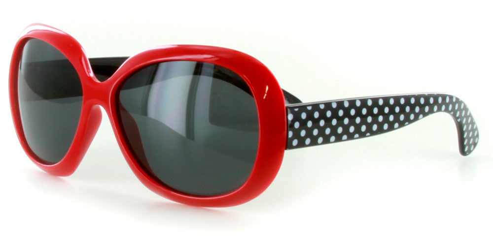 """Polka Dots"" Polarized Kids Sunglasses in Five Gorgeous Colors - 100% UV - Aloha Eyes - 4"