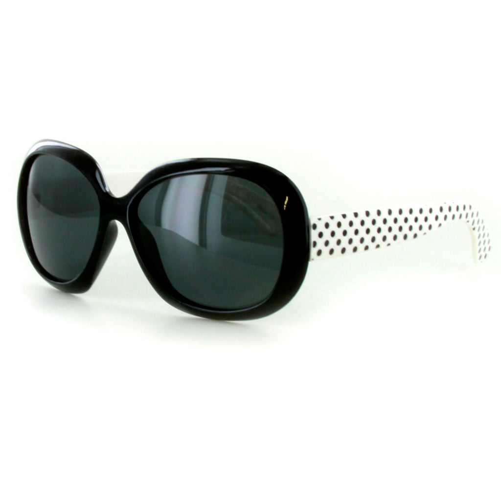 """Polka Dots"" Polarized Kids Sunglasses in Five Gorgeous Colors - 100% UV - Aloha Eyes - 1"