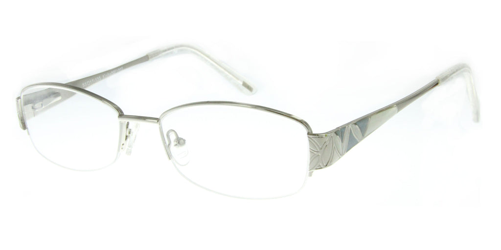 """Whitney"" Optical-Quality RX-Able Oval Frames with Enamel Pattern - Aloha Eyes - 2"