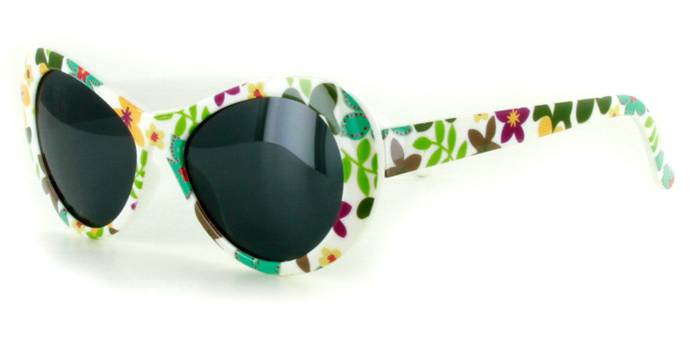 """Secret Garden"" Polarized Kids Sunglasses in Four Gorgeous Colors - 100% UV - Aloha Eyes - 4"