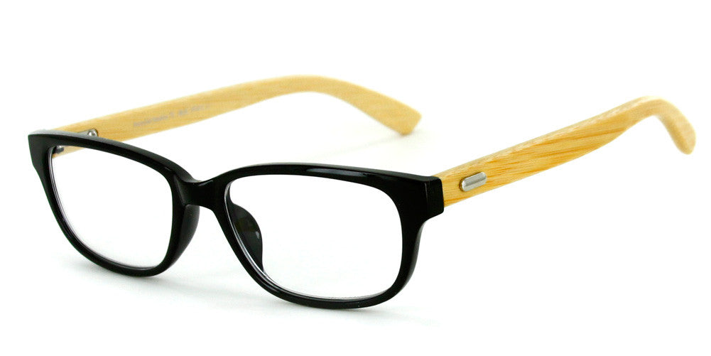 """Zen Garden"" Eco-Chic Wayfarer Reading Glasses with Natural Bamboo Temples - Aloha Eyes - 4"