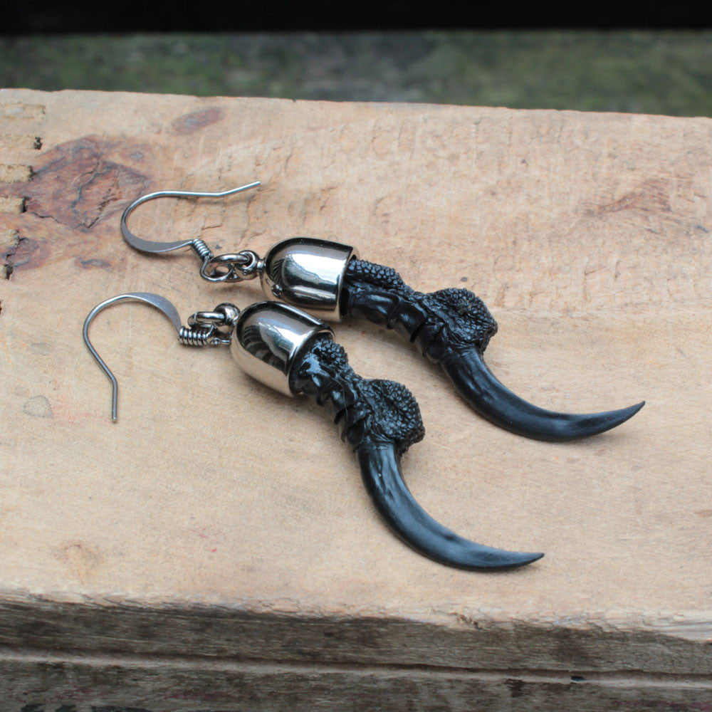 crow talon replica earrings