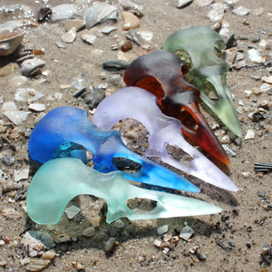 seaglass crow skull fragment - preorder