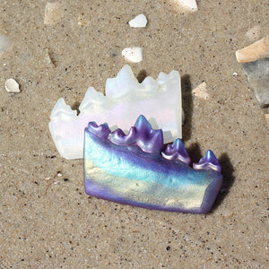 iridescent seaglass coyote jaw fragment - preorder