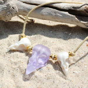 seaglass sparrow and pearl necklace - preorder