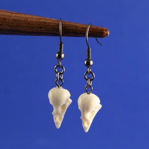 mini sparrow skull earrings