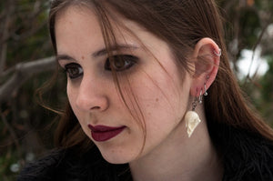 sparrow skull earrings