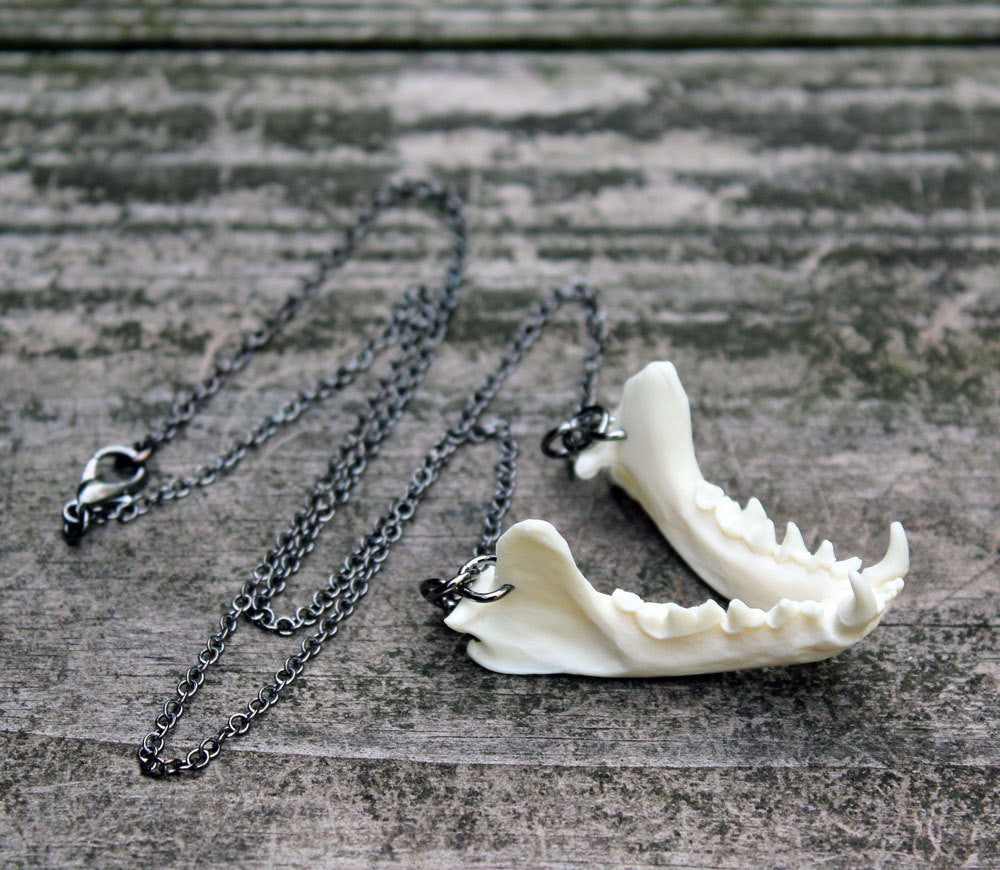 mink jaw necklace