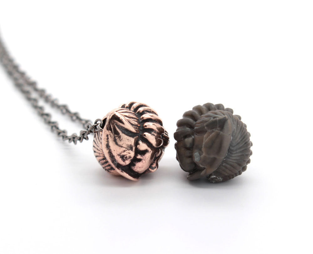 bronze trilobite necklace