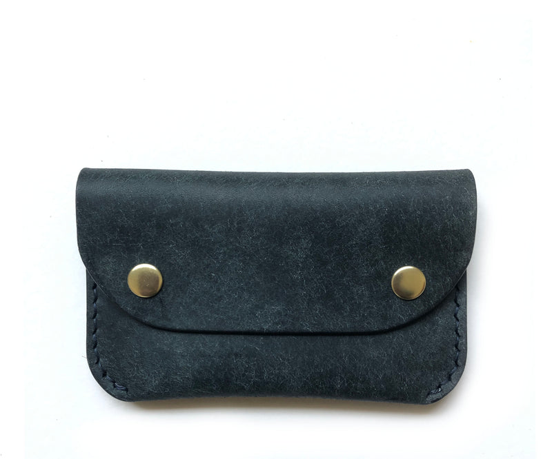 Two Pocket Bubble Coin Wallet - BYNDR LEATHER GOODS