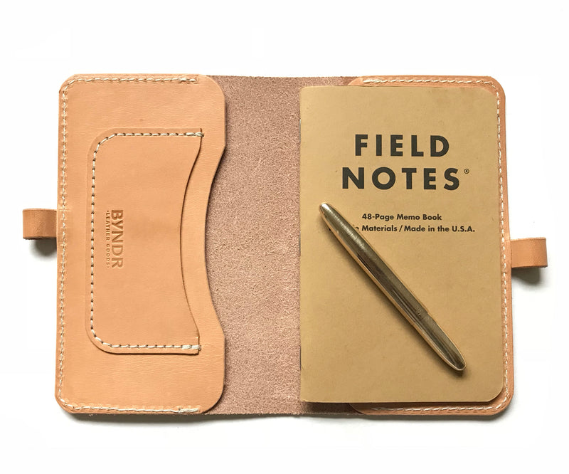 Field Note Folio - BYNDR LAB - BYNDR LEATHER GOODS