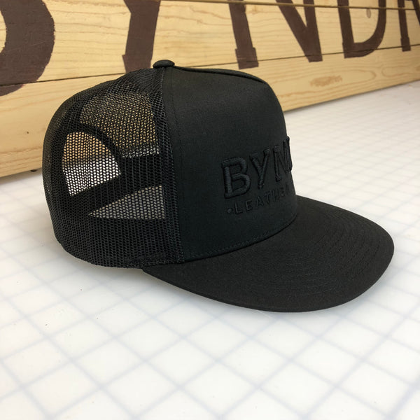 BLACK-ON-BLACK BYNDR HATS - BYNDR LEATHER GOODS