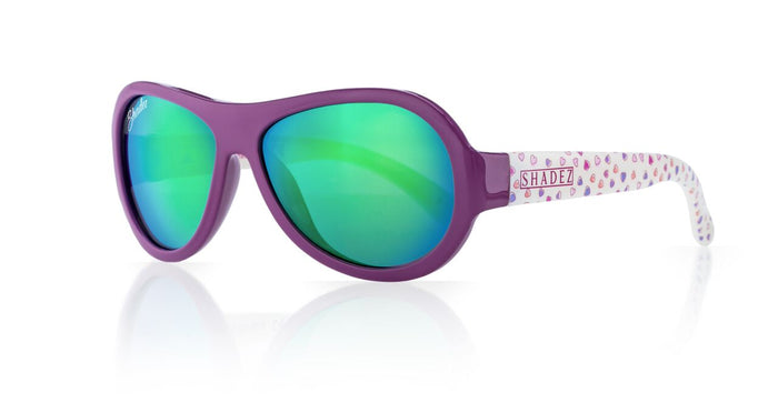 Designer Aviator - Hearts Purple