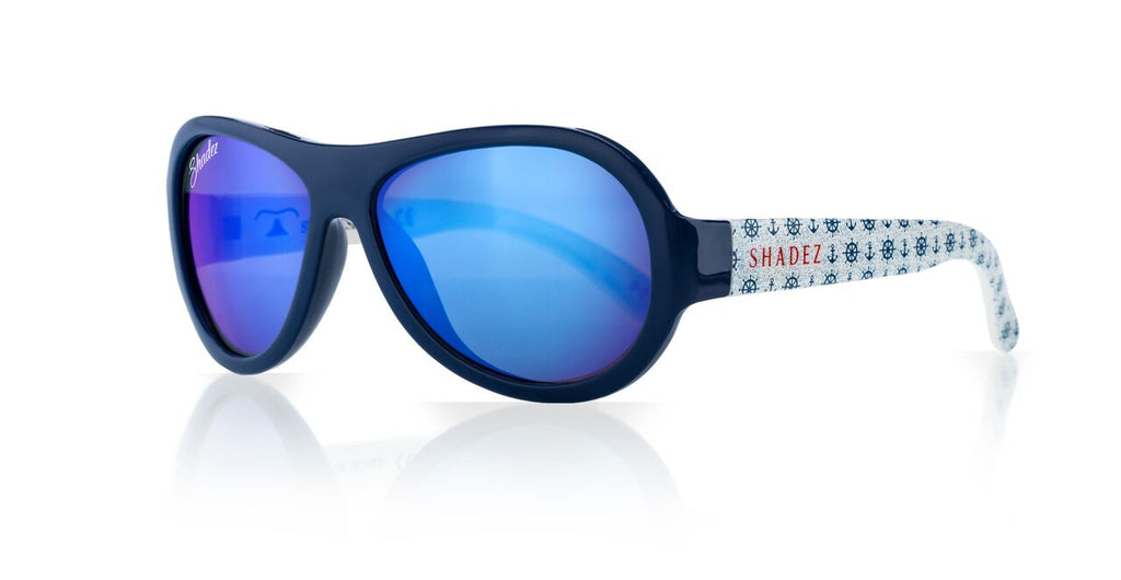 Designer Aviator - Anchor Print Blue