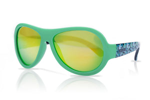 Designer Aviator - Leaf Print Green