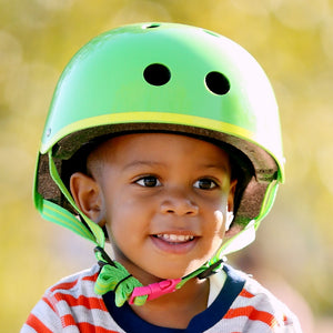 MICRO Helmet ABS - Green Glossy - Sizes: S / M