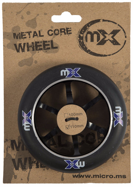 Micro MX Stunt Scooter Wheels - 5 Spoke Metal Core - 110mm
