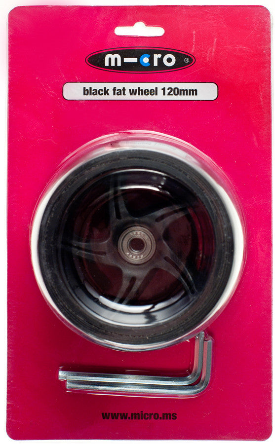 Micro Wheel Black Fat 120mm