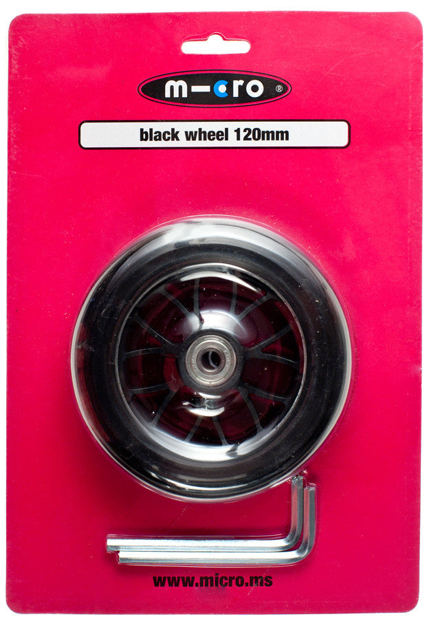 Micro Wheel Black 120mm