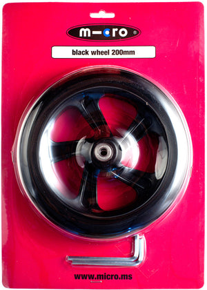 Micro Wheel Black 200mm