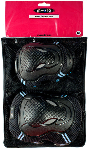 Micro Elbow & Knee Pad Set - Black