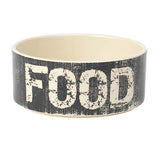 PetRageous - PetRageous Bowls 4 Cups / Food Text Print / Tan/Black - Pet Cuisine & Accessories - 3
