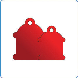 Vital Information Plates - Dog & Cat Tags Fire Hydrant / Black / Small - Pet Cuisine & Accessories - 1