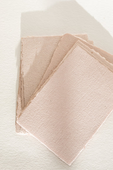 Blush handmade recycled paper - Feathers and Stone