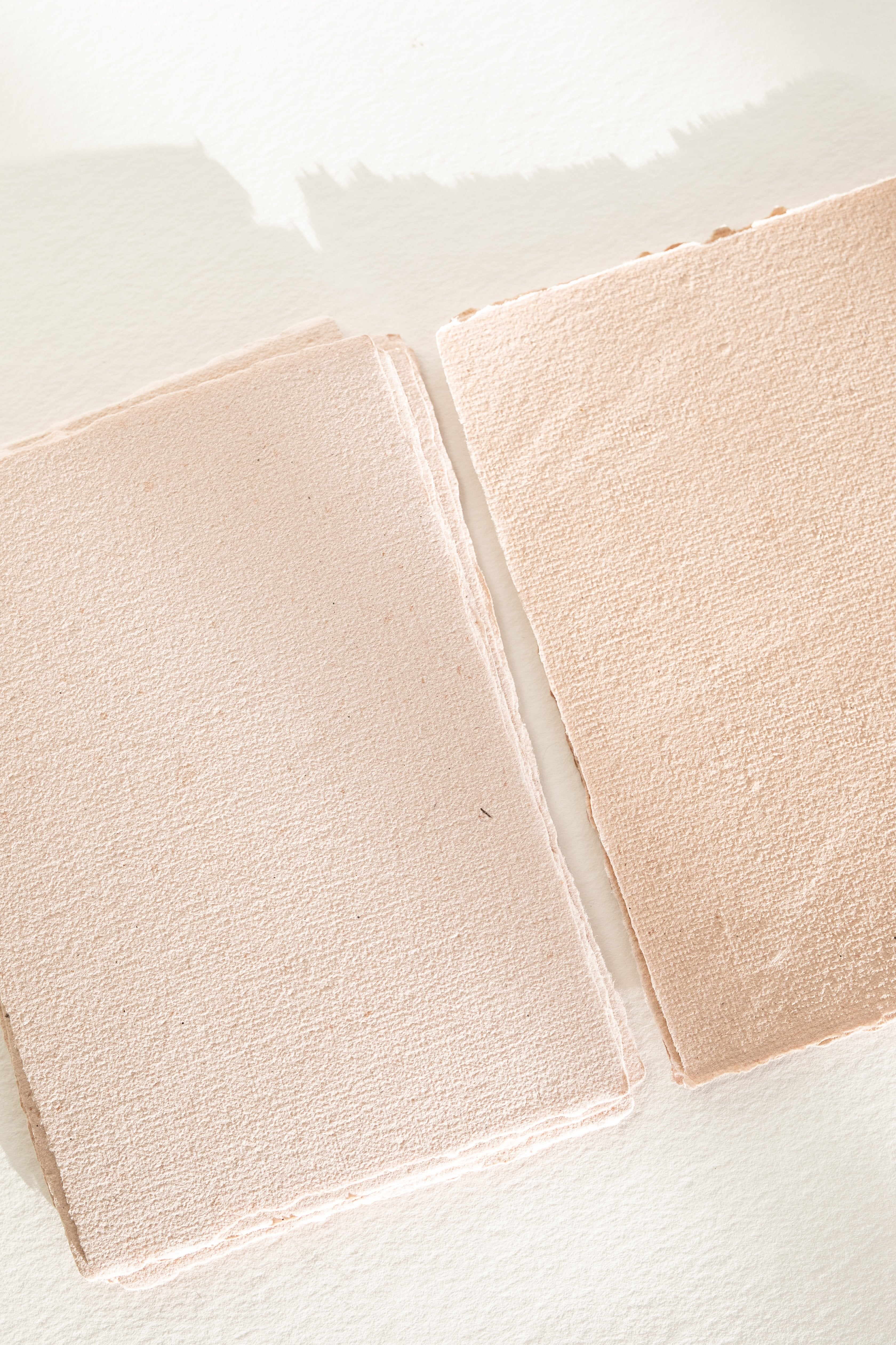 Blush handmade recycled paper