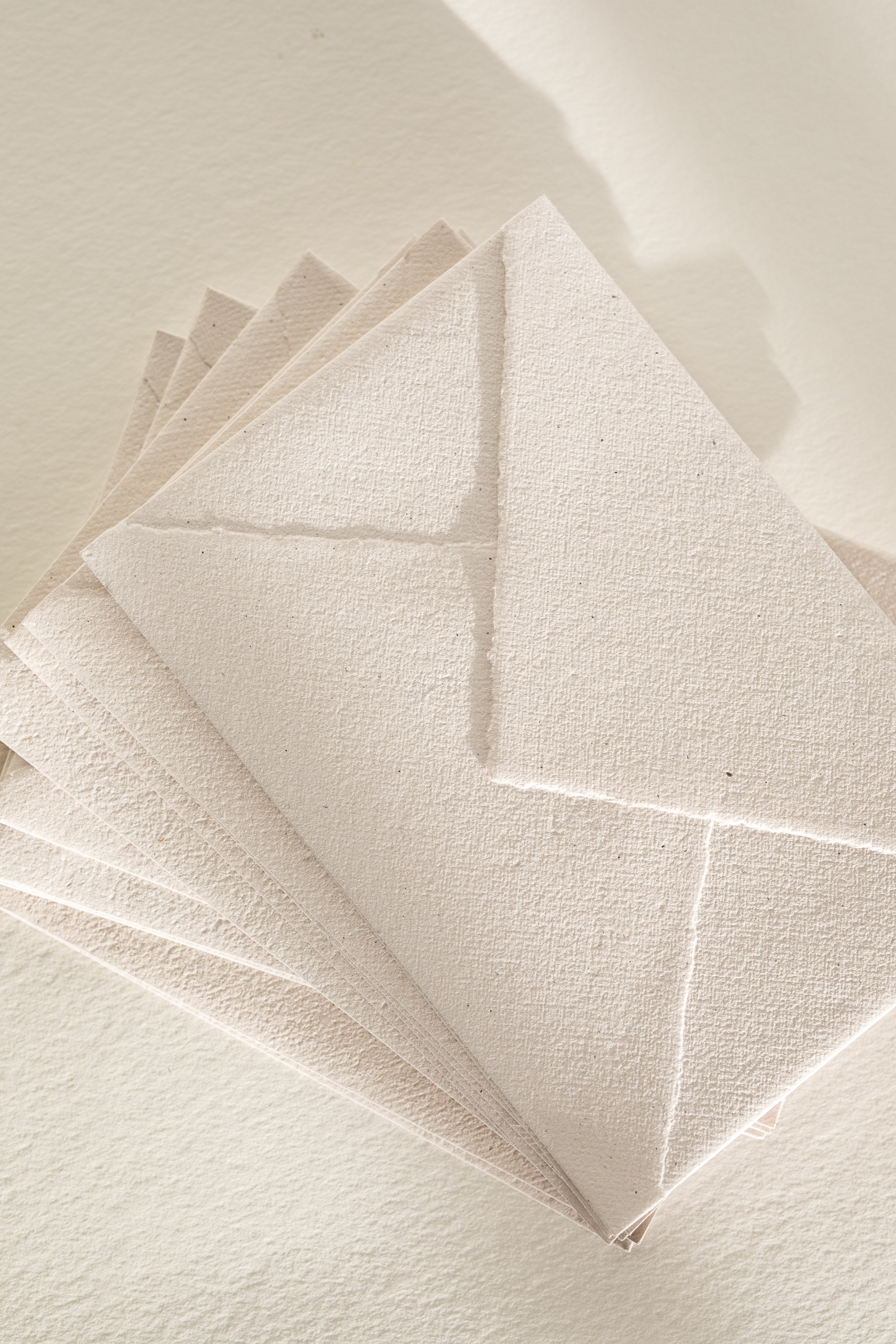 Champagne Recycled Envelopes - Deckled Edge