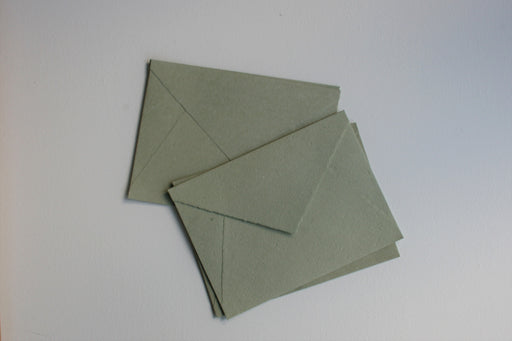 Sage Deckle Edge Recycled Envelopes