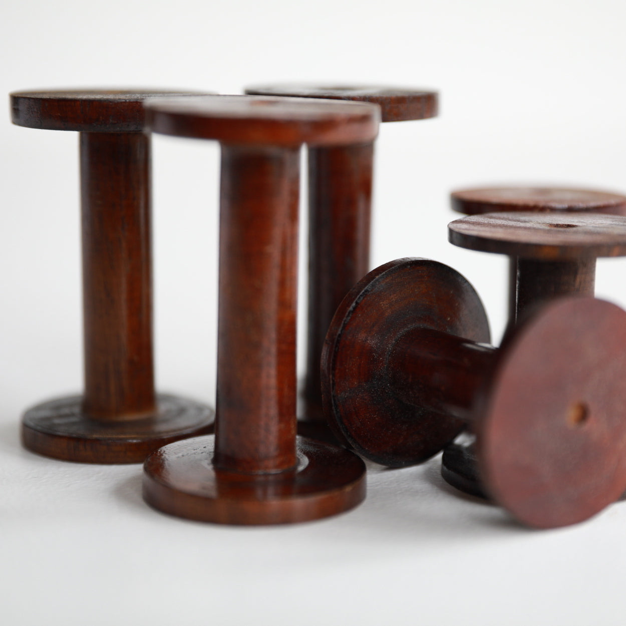 Wooden Spools For Ribbons Trims Twine And Yarn