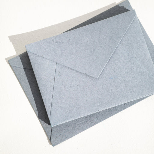 DUSTY BLUE Recycled ENVELOPES - (Deckle Edge or Straight Edge)