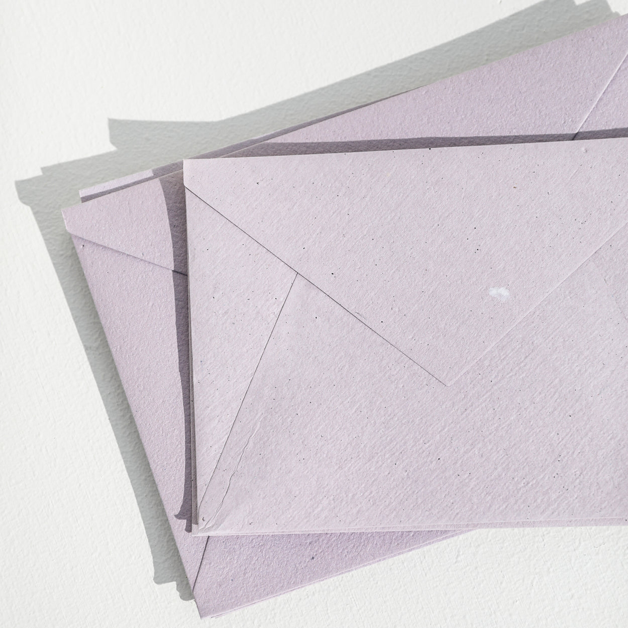 Lavender Recycled ENVELOPES - (Deckled and Straight Edge)