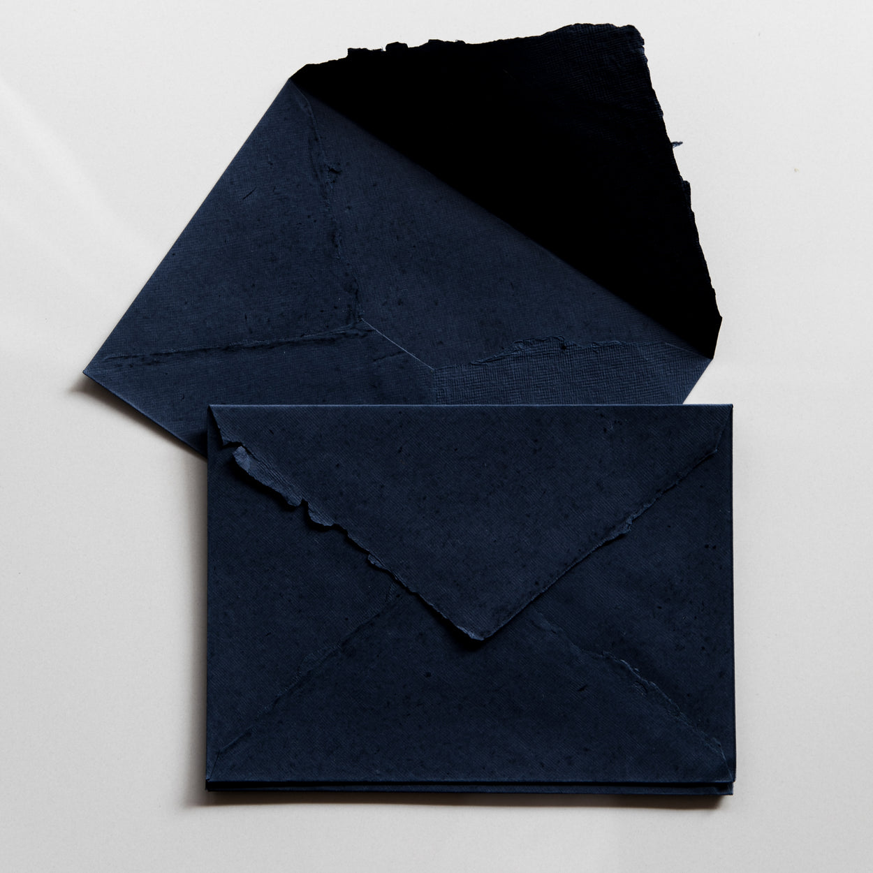 Indigo Deckle Edge Cotton Rag Envelopes