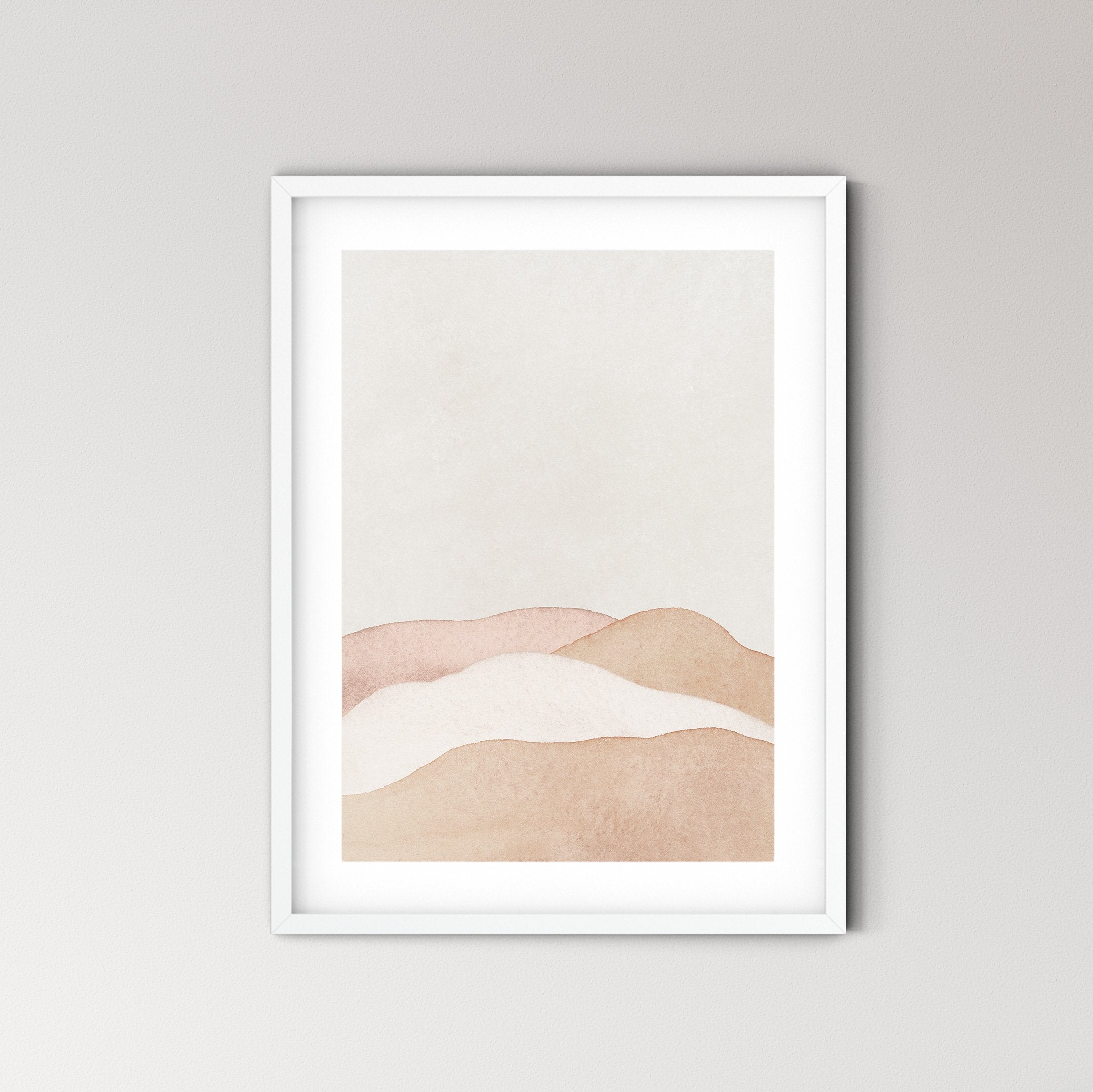 Earthy Abstract Landscape Art Print No.2 - Feathers and Stone