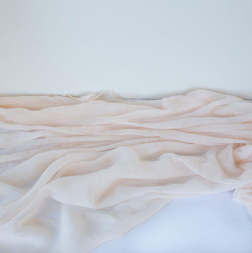 Soft BLUSH Plant dyed Silk Runner or Styling Fabric