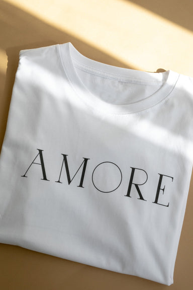 AMORE Organic Cotton T-shirt - Feathers and Stone