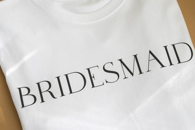 BRIDESMAID Organic Cotton T-shirt - Feathers and Stone