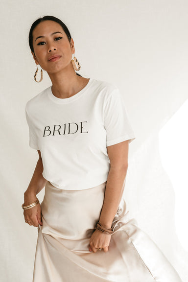 BRIDE Organic Cotton T-shirt - Feathers and Stone