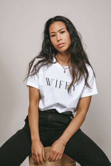 WIFEY Organic Cotton T-shirt - Feathers and Stone