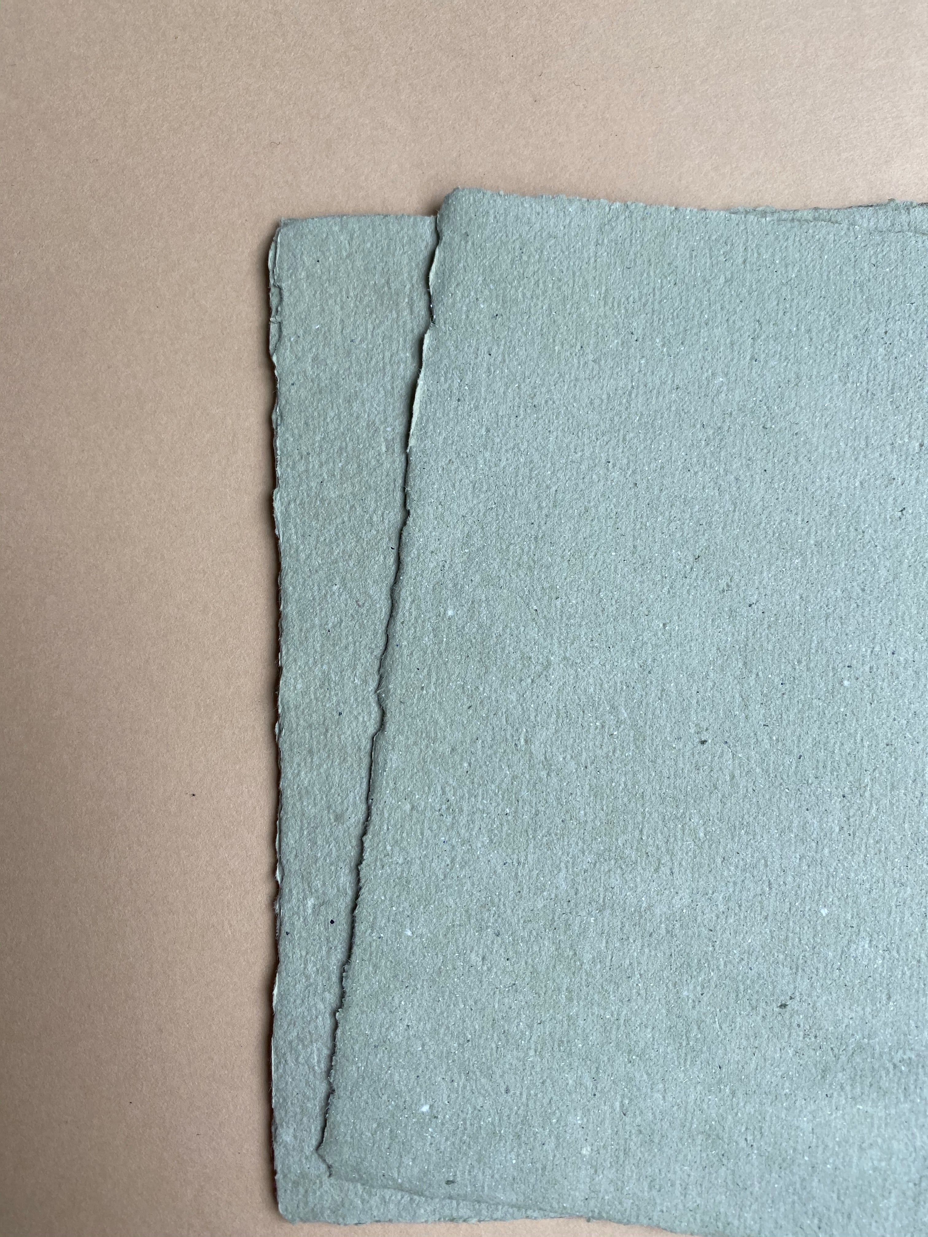 Sage handmade recycled paper